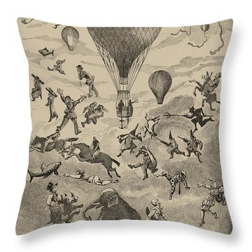Circus Balloon Throw Pillow