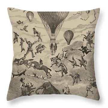 Circus Balloon Throw Pillow