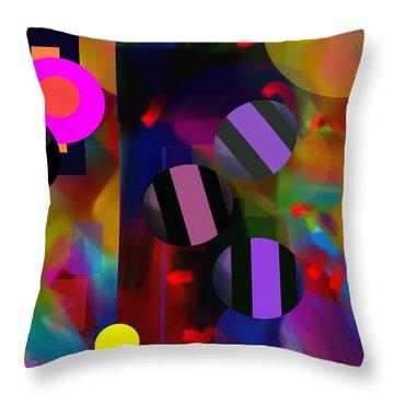 Throw Pillow featuring the digital art Circus Balls by Lynda Lehmann