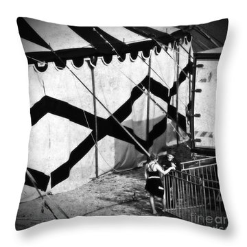 Circus Conversation Throw Pillow by Silvia Ganora