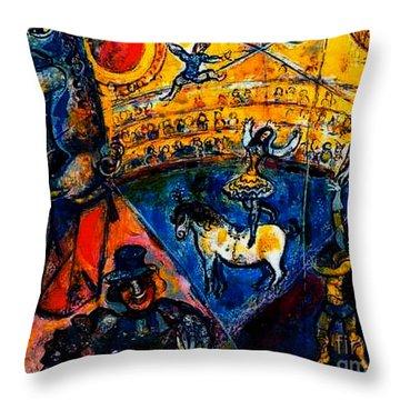 Circus Horse Throw Pillow