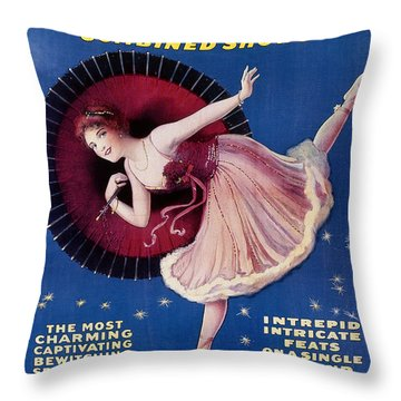 Circus Poster, C1920 Throw Pillow by Granger