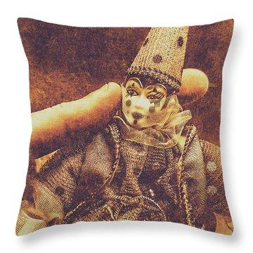 Circus Puppeteer  Throw Pillow