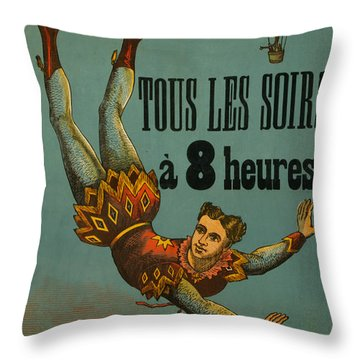 Cirque D'hiver Throw Pillow