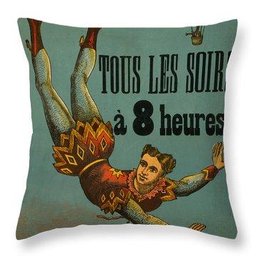Cirque D'hiver Throw Pillow