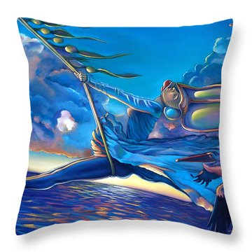 Cirque Du Sole Throw Pillow by Patrick Anthony Pierson