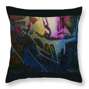 Throw Pillow featuring the painting Cirque Du Soleil by Mary Sullivan