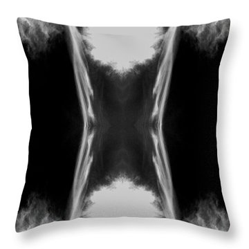 Throw Pillow featuring the digital art Cirrus by Maggy Marsh