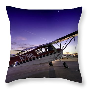 Citabria In The Twilight Of Dawn Throw Pillow