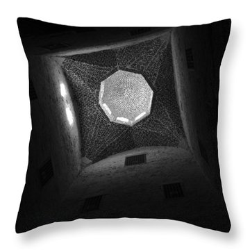Throw Pillow featuring the photograph Citadel Dome Of Alex Bw by Donna Corless