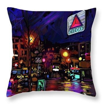 Citgo Sign, Boston Throw Pillow