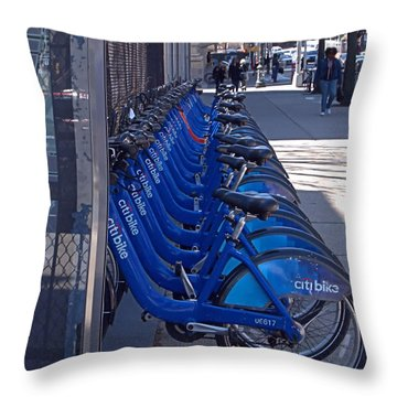 Citibike Throw Pillow
