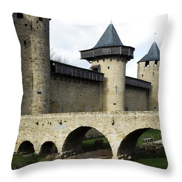 Citie De Carcassone Throw Pillow