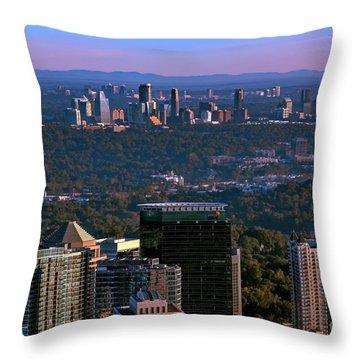 Cities Of Atlanta Throw Pillow