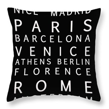 Cities Of Europe Throw Pillow by Georgia Fowler