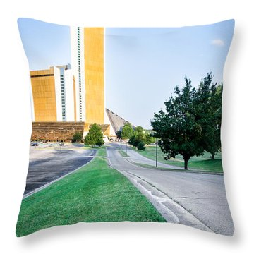 Citiplex Towers Throw Pillow