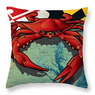 Citizen Crab Of Maryland Throw Pillow