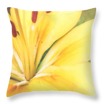 Citrine Blossom Throw Pillow