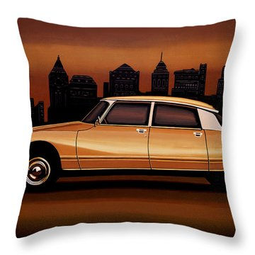 Citroen Ds 1955 Painting Throw Pillow