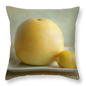 Citrus Brothers Throw Pillow by Aiolos Greek Collections