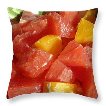 Citrus In Winter Throw Pillow