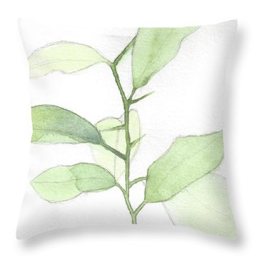 Citrus Sapling Throw Pillow