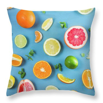 Citrus Summer Throw Pillow