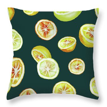 Citrus Throw Pillow by Varpu Kronholm