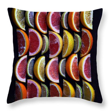 Wavy Citrus Lineage Throw Pillow