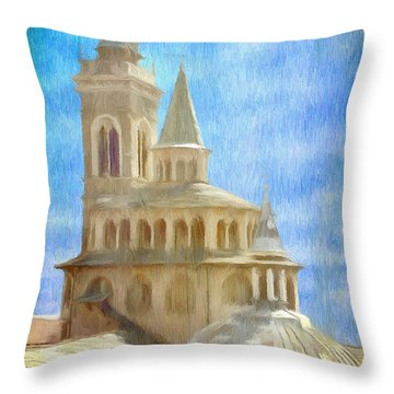Citta Alta From Above Throw Pillow by Jeffrey Kolker