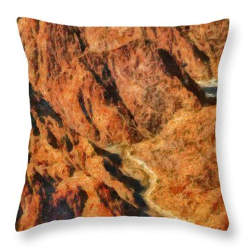 City - Arizona - Grand Canyon - A Look Into The Abyss Throw Pillow by Mike Savad