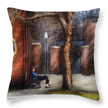 City - Newark Nj - Always Waiting  Throw Pillow by Mike Savad