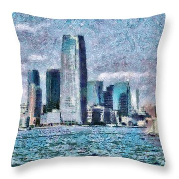 City - Ny - City Of The Future Throw Pillow by Mike Savad