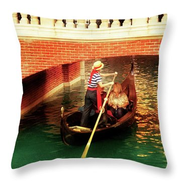 City - Vegas - Venetian - That's Amore Throw Pillow by Mike Savad