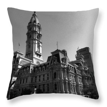 City 2 Throw Pillow