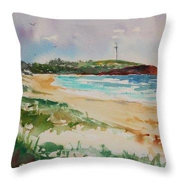 City Beach Throw Pillow