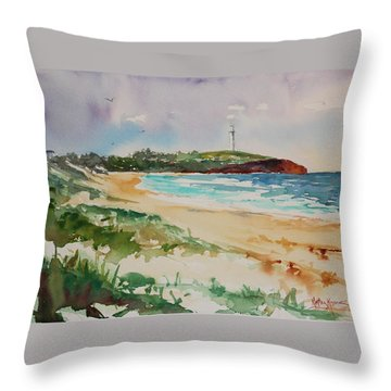 City Beach Throw Pillow