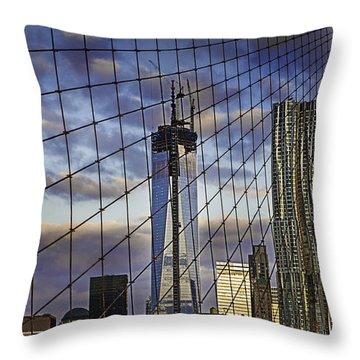 City Between The Bridge Throw Pillow