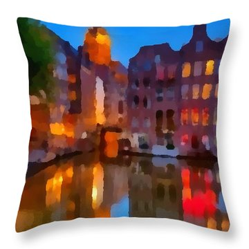 City Block 900 Soft And Dreamy In Thick Paint Throw Pillow