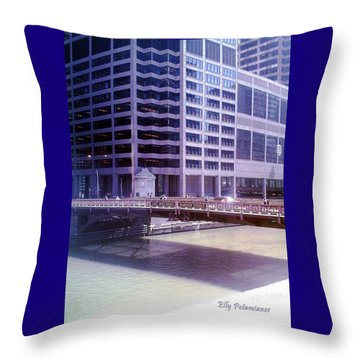 City Bridge Throw Pillow