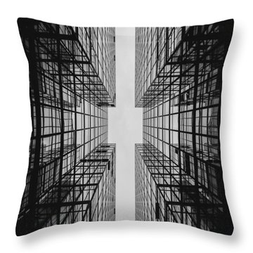City Buildings Throw Pillow