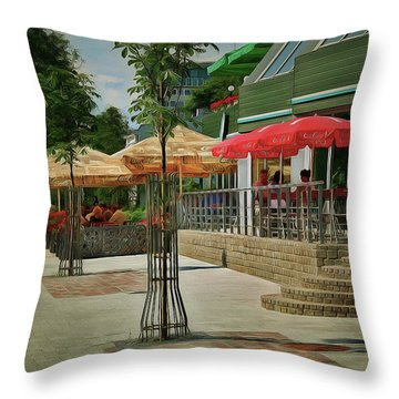 City Cafe Throw Pillow