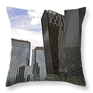 City Center At Las Vegas Throw Pillow