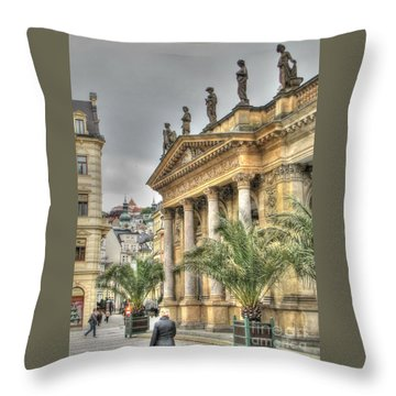 Karlovy Vary Chehia Throw Pillow by Yury Bashkin