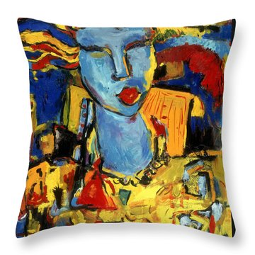 City Chick Throw Pillow