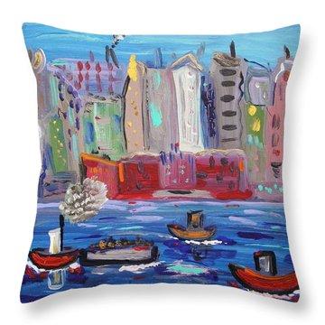 City City City Throw Pillow