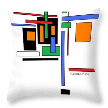 City Colors 2 Throw Pillow by B L Qualls