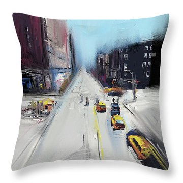 City Contrast Throw Pillow by Russell Pierce