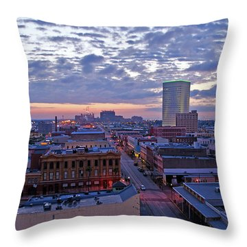 City Dawn Throw Pillow