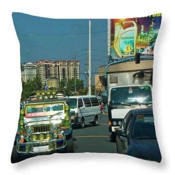 City Driving Throw Pillow
